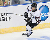 Shawn Stuart (Union - 28) - The University of Minnesota-Duluth Bulldogs defeated the Union College Dutchmen 2-0 in their NCAA East Regional Semi-Final on Friday, March 25, 2011, at Webster Bank Arena at Harbor Yard in Bridgeport, Connecticut.