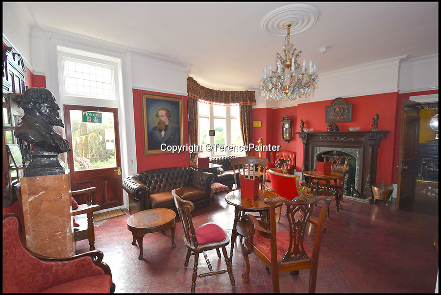 BNPS.co.uk (01202)558833Pic: TerencePainter/BNPS<br /> <br /> The house is run as a Victorian themed Guesthouse at the moment.<br /> <br /> Hard Times for Bleak House....Dickens seaside villa has its asking price slashed by a whopping £2.7million.<br /> <br /> Please Sir, can i have less!...A clifftop mansion that was the home of author Charles Dickens is now a bargain even Ebeneezer Scrooge would be happy with - as the property is on the market for less than half the price tag it had last year.<br /> <br /> Bleak House, which sits high on the cliffs at Broadstairs overlooking the Kent coast, is where Dickens spent summers from the 1830s through to the 1850s.<br /> <br /> He wrote David Copperfield (1851) here and planned Bleak House, with this property later renamed after that 1853 novel to represent its connection to the author. <br /> <br /> The Grade II listed house was up for grabs for £5.2m in March last year but the owners are keen for a quick sale and the price has now dropped to just £2.5m.