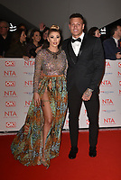 Alex Bowen and Olivia Buckland<br /> Arrivals at the National Television Awards 2018 at The O2 Arena on January 23, 2018 in London, England. <br /> CAP/Phil Loftus<br /> &copy;Phil Loftus/Capital Pictures