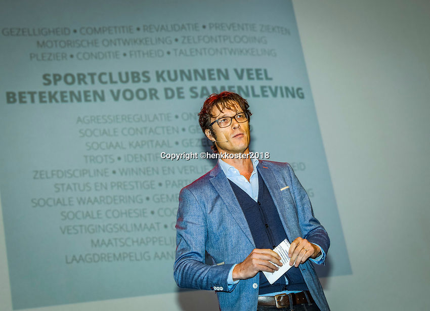 Nieuwegein,  Netherlands, 24 November 2018, KNLTB Year congress KNLTB, Roger Davids, Chairman KNLTB<br /> Photo: Tennisimages.com/Henk Koster