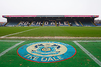 A general view of Spotland Stadium, home of Rochdale FC<br /> <br /> Photographer Chris Vaughan/CameraSport<br /> <br /> The EFL Sky Bet League One - Rochdale v Blackpool - Wednesday 26th December 2018 - Spotland Stadium - Rochdale<br /> <br /> World Copyright &copy; 2018 CameraSport. All rights reserved. 43 Linden Ave. Countesthorpe. Leicester. England. LE8 5PG - Tel: +44 (0) 116 277 4147 - admin@camerasport.com - www.camerasport.com