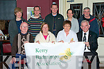 NEW CREST: Tessa Dennison designer of the new Kerry Badminton Association Crest with members of the Kerry Badminton Association at the crest launch in O'Donnell's bar and restaurant on Thursday seated l-r: Junior Griffin (chairman), Tessa Dennison (crest designer), Peggy Horan (secretary) and Johnny Brosnan (president). Back l-r: Maria Maher (treasurer), Maurice O'Shea (PRO), Michael Corridan (vice chairman) and Ollie Conyard (assistant president).