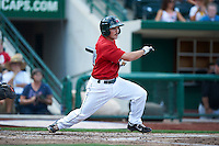 Fort Wayne TinCaps third baseman Tyler Stubblefield #14 during a Midwest League game against the Dayton Dragons at Parkview Field on August 19, 2012 in Fort Wayne, Indiana.  Dayton defeated Fort Wayne 5-1.  (Mike Janes/Four Seam Images)