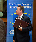 Brussels-Belgium - June 27, 2014 -- European Council, EU-summit, meeting of Heads of State / Government; here, David CAMERON, Prime Minister of the United Kingdom, at the beginning of the second day / EU-summit -- Photo: © HorstWagner.eu