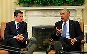 United States President Barack Obama, right, makes remarks to the media as he meets with President Enrique Peña Nieto of Mexico, left, in the Oval Office of the White House in Washington, D.C. on Tuesday, January 6, 2015.<br /> Credit: Dennis Brack / Pool via CNP