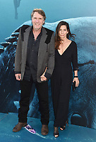 HOLLYWOOD, CA - AUGUST 06: Robert Taylor (L) and Ayisha Davies attend the premiere of Warner Bros. Pictures and Gravity Pictures' Premiere of 'The Meg' at the TLC Chinese Theatre on August 06, 2018 in Hollywood, California.<br /> CAP/ROT/TM<br /> &copy;TM/ROT/Capital Pictures