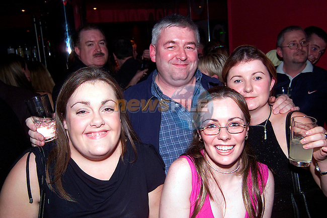 Sinead O'Brien, Ciara Maxwell and Jenny Gregory with Tony Ward at the official opening of Storm Nightclub..Picture: Paul Mohan/Newsfile