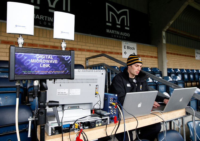 Photo: Richard Lane/Richard Lane Photography..London Wasps v Bath Rugby. Guinness Premiership. 29/12/2007. .Wasps' Technical Analyst, Adam Grainger.