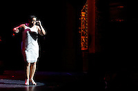"""New York, United States. 23th March 2014 - Singer Cita Rodriguez, daughter of The Legendary Pete """"El Conde"""" Rodriguez performs during a special concert to commemorate the life and legacy of Celia Cruz at the Apollo theater in Harlem, New York. Photo by Eduardo Munoz Alvarez/VIEW"""