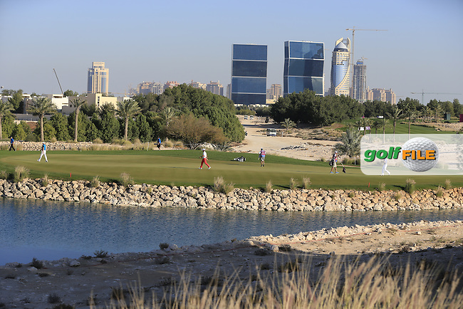 The par3 8th green during Thursday's Round 2 of the 2015 Commercial Bank Qatar Masters held at Doha Golf Club, Doha, Qatar.: Picture Eoin Clarke, www.golffile.ie: 1/22/2015