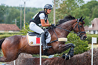 BEL-Julia Schmitz rides Lady Like during the Cross Country for the CCIO4*-S FEI Nations Cup Eventing. 2019 FRA-Le Grand Complet at Le Haras du Pin. Saturday 10 August. Copyright Photo: Libby Law Photography