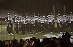 The Marching 110 is projected on the walls of Baker Ballroom at the close of the Alumni Awards Gala on October 6, 2017.