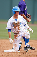 Shane Zeile #14 of the UCLA Bruins during a baseball game against the Washington Huskies at Jackie Robinson Stadium on March 17, 2013 in Los Angeles, California. (Larry Goren/Four Seam Images)