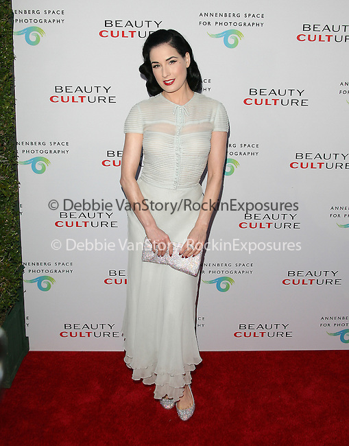 Dita VonTeese at The opening of BEAUTY CULTURE, a photographic exploration of how feminine beauty is defined, challenged and revered in modern society held at Annenberg Space for Photography in Century City, California on May 19,2011                                                                               © 2011 Hollywood Press Agency