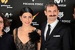 Barbara Lennie and Julian Villagran attends to the Feroz Awards 2017 in Madrid, Spain. January 23, 2017. (ALTERPHOTOS/BorjaB.Hojas)