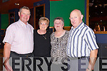 Patrick Hurley, Phyllis McLoughlin, Betty Herlihy and Joe Shire from Tralee, Gneeveguilla enjoying the River Island Hotel Castleisland Dance with the P.J. Murrihy and Jerome Coakley Band on Thursday