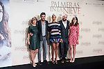"Cast of the film during the presentation of the film ""Palmeras en la nieve"" in Madrid, December 16, 2015. <br /> (ALTERPHOTOS/BorjaB.Hojas)"