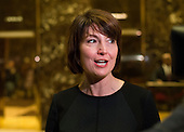 United States Representative Cathy McMorris Rogers (Republican of Oregon) speaks to the press in the lobby of Trump Tower in New York, NY, USA following her meeting with US President-elect Donald Trump on December 12, 2016. <br /> Credit: Albin Lohr-Jones / Pool via CNP