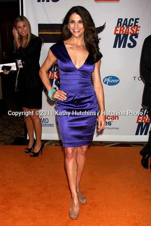 LOS ANGELES - APR 29:  Samantha Harris arriving at the 18th Race to Erase MS Event at Century Plaza Hotel on April 29, 2011 in Century City, CA..