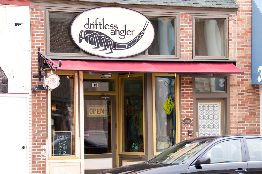 The Driftless Angler fly shop in Viroqua Wisconsin in the Driftless Area of southwest Wisconsin.