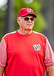 22 February 2019: Washington Nationals Vice President and Senior Advisor to the General Manager Bob Boone watches his team during a Spring Training workout at the Ballpark of the Palm Beaches in West Palm Beach, Florida. Mandatory Credit: Ed Wolfstein Photo *** RAW (NEF) Image File Available ***