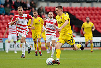 Fleetwood Town's Ashley Hunter in action<br /> <br /> Photographer David Shipman/CameraSport<br /> <br /> The EFL Sky Bet League One - Doncaster Rovers v Fleetwood Town - Saturday 6th October 2018 - Keepmoat Stadium - Doncaster<br /> <br /> World Copyright &copy; 2018 CameraSport. All rights reserved. 43 Linden Ave. Countesthorpe. Leicester. England. LE8 5PG - Tel: +44 (0) 116 277 4147 - admin@camerasport.com - www.camerasport.com