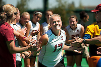 STANFORD, CA - SEPTEMBER 6: Emily Henriksson plays against Michigan State on September 6, 2010 in Stanford, California.
