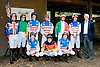 group of riders before The International Gentleman Fegentri  Race at Delaware Park on 9/8/12