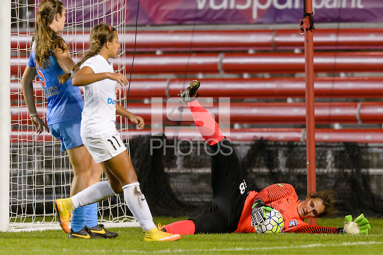 Chicago, IL - Saturday July 30, 2016: Michele Dalton during a regular season National Women's Soccer League (NWSL) match between the Chicago Red Stars and FC Kansas City at Toyota Park.