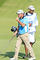 Marco Crespi (ITA) on the 9th during Round 2 of the KLM Open at Kennemer Golf &amp; Country Club on Friday 12th September 2014.<br /> Picture:  Thos Caffrey / www.golffile