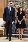 King Felipe VI of Spain and Sra Anne Hidalgo, Paris Mayor attends at Zarzuela Palace in Madrid, April 19, 2017. Spain.<br /> (ALTERPHOTOS/BorjaB.Hojas)