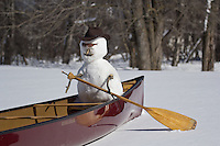 &quot;Snowman Canoeing&quot;<br />
