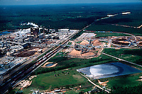 Aerial view of the James River Paper Mill. Butler, Alabama.