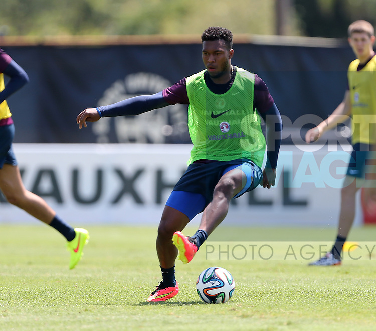 England's Daniel Sturridge in action during training<br /> <br /> England Training &amp; Press Conference  - Barry University - Miami - USA - 06/06/2014  - Pic David Klein/Sportimage