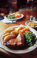 Pub food, Somerset England, 6-2002