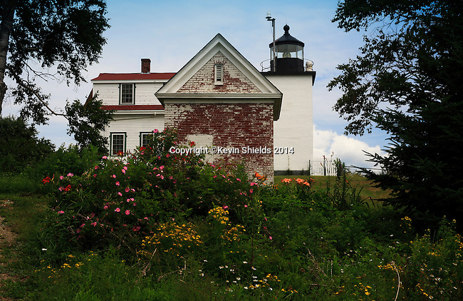 Summer view of Fort Point Light, Stockton Springs, Maine, USA