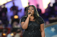 May 25, 2013  (Washington, DC) Candice Glover,  American Idol season 12 winner, sings the 'Star Spangled Banner' during the National Memorial Day Concert May 25, 2013.   (Photo by Don Baxter/Media Images International)