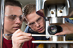 1301-45 092<br /> <br /> 1301-45 ME Materials Testing Lab<br /> <br /> Materials testing lab, 123 CB, Dr. Eric Homer<br /> <br /> January 25, 2013<br /> <br /> &copy; BYU PHOTO 2013<br /> All Rights Reserved<br /> photo@byu.edu  (801)422-7322