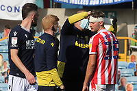 Stoke City's Nick Powell receives treatment for a head injury during Millwall vs Stoke City, Sky Bet EFL Championship Football at The Den on 12th September 2020