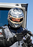 Sept. 5, 2010; Clermont, IN, USA; NHRA top fuel dragster driver Bob Vandergriff during qualifying for the U.S. Nationals at O'Reilly Raceway Park at Indianapolis. Mandatory Credit: Mark J. Rebilas-
