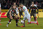 08.02.2019, RheinEnergieStadion, Koeln, GER, 2. FBL, 1.FC Koeln vs. FC St. Pauli,<br />  <br /> DFL regulations prohibit any use of photographs as image sequences and/or quasi-video<br /> <br /> im Bild / picture shows: <br /> Dominick Drexler (FC Koeln #24), im Zweikampf gegen  Florian Carstens (St Pauli #38), <br /> <br /> Foto © nordphoto / Meuter