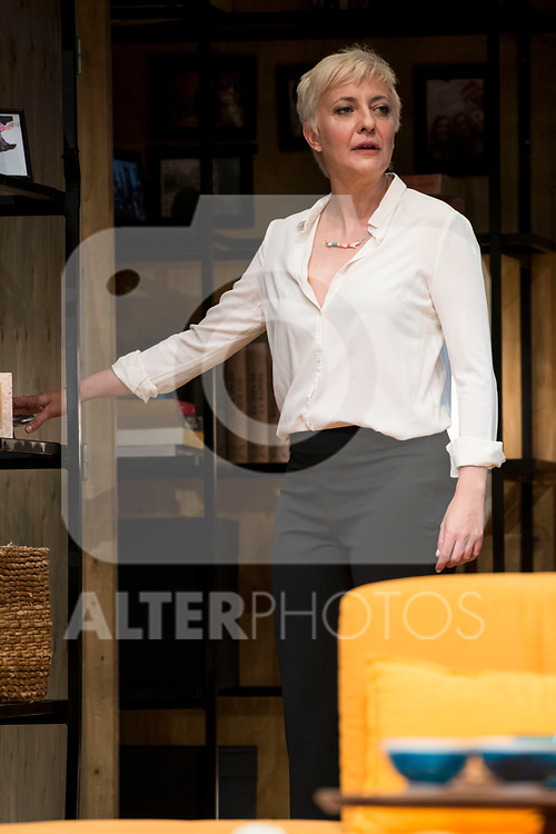 Eva Hache during theater play of &quot;Los vecinos de arriba&quot; at Teatro Circulo de Bellas Artes in Madrid, April 25, 2017. Spain.<br /> (ALTERPHOTOS/BorjaB.Hojas)