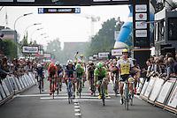 Dylan Groenewegen (NLD/LottoNL-Jumbo) winning the bunch sprint<br /> <br /> Heistse Pijl 2016