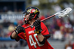 2013 March 02: Brian Cooper #40 of the Maryland Terrapins during a game against the Duke Blue Devils at Koskinen Stadium in Durham, NC.  Maryland won 16-7.