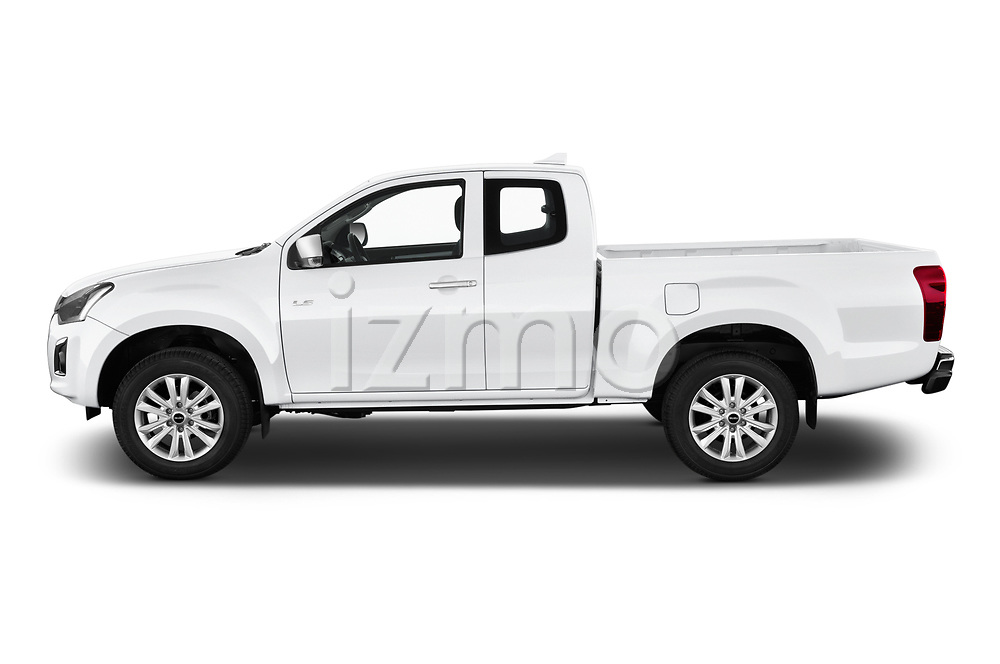 Car Driver side profile view of a 2019 Isuzu D-Max LS 2 Door Pick-up Side View