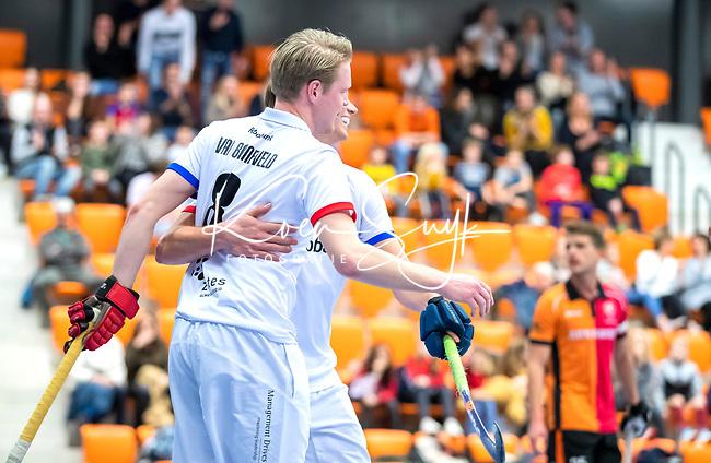 ROTTERDAM  - NK Zaalhockey,   halve finale heren Oranje Rood-SCHC (SCHC wint en plaatst zich voor de finale)  Leon van Barneveld (SCHC)      COPYRIGHT KOEN SUYK