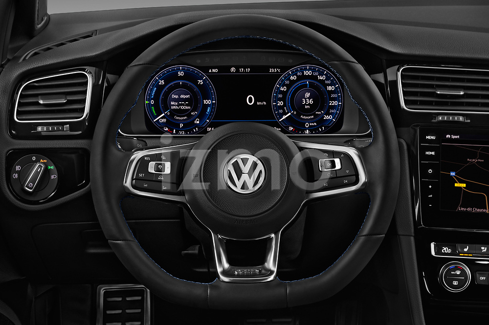 Car pictures of steering wheel view of a 2018 Volkswagen Golf GTE Base 5 Door Hatchback