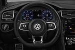 Car pictures of steering wheel view of a 2018 Volkswagen Golf GTE Base 5 Door Hatchback