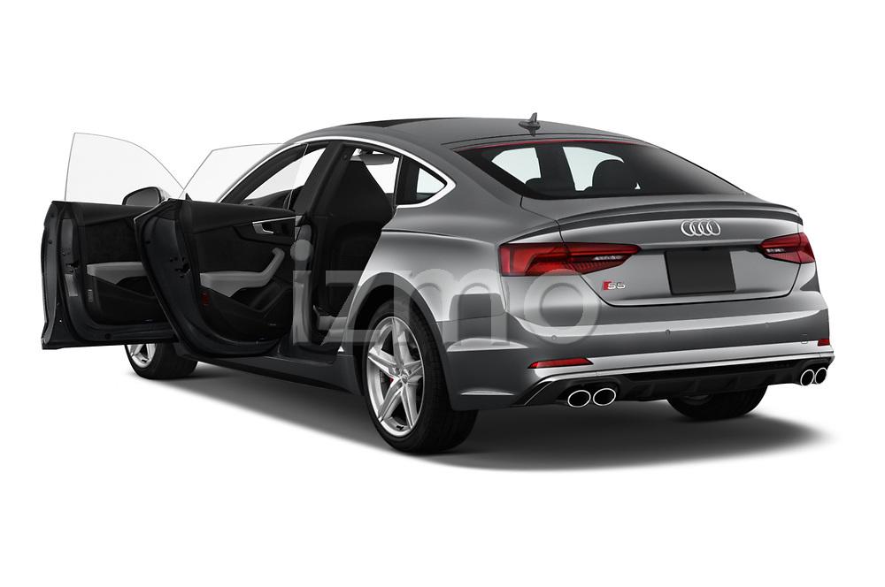 Car images close up view of a 2018 Audi S5 Sportback 3.0T Premium Plus quattro Tiptronic 5 Door Hatchback doors