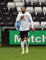 Pictured: Nathan Redmond of England celebrating his opening goal. Monday 19 May 2014<br />